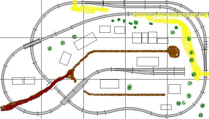 Christmas village train layouts
